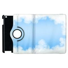 Sky Cloud Blue Texture Apple Ipad 3/4 Flip 360 Case by Nexatart