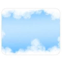 Sky Cloud Blue Texture Double Sided Flano Blanket (medium)  by Nexatart