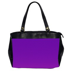 Halftone Background Pattern Purple Office Handbags (2 Sides)  by Nexatart