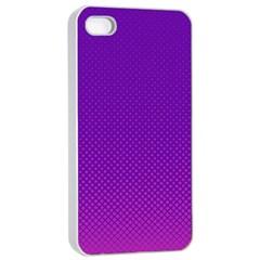 Halftone Background Pattern Purple Apple Iphone 4/4s Seamless Case (white) by Nexatart