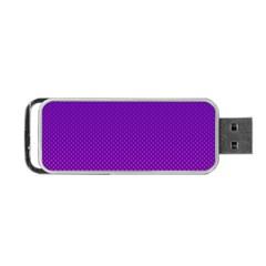 Halftone Background Pattern Purple Portable Usb Flash (two Sides) by Nexatart
