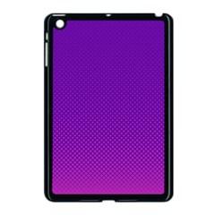 Halftone Background Pattern Purple Apple Ipad Mini Case (black) by Nexatart