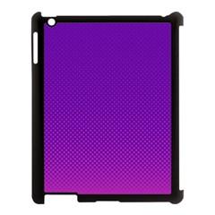 Halftone Background Pattern Purple Apple Ipad 3/4 Case (black) by Nexatart