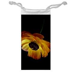Ranunculus Yellow Orange Blossom Jewelry Bag by Nexatart