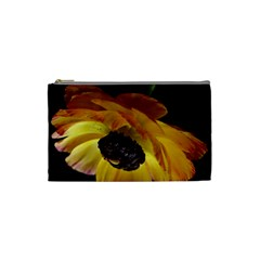 Ranunculus Yellow Orange Blossom Cosmetic Bag (small)  by Nexatart
