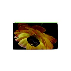 Ranunculus Yellow Orange Blossom Cosmetic Bag (xs) by Nexatart