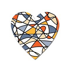 Abstract Background Abstract Heart Magnet by Nexatart