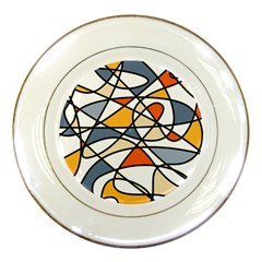 Abstract Background Abstract Porcelain Plates
