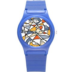 Abstract Background Abstract Round Plastic Sport Watch (s) by Nexatart