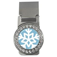 Snowflake Snow Flake White Winter Money Clips (cz)  by Nexatart