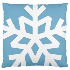 Snowflake Snow Flake White Winter Large Cushion Case (two Sides) by Nexatart