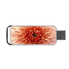 Dahlia Flower Joy Nature Luck Portable Usb Flash (two Sides) by Nexatart