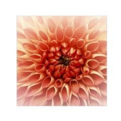 Dahlia Flower Joy Nature Luck Small Satin Scarf (square) by Nexatart