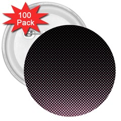 Halftone Background Pattern Black 3  Buttons (100 Pack)  by Nexatart