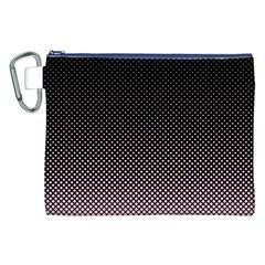 Halftone Background Pattern Black Canvas Cosmetic Bag (xxl) by Nexatart