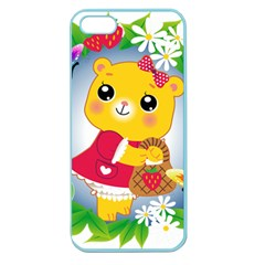 Bear Strawberries Apple Seamless Iphone 5 Case (color) by Nexatart