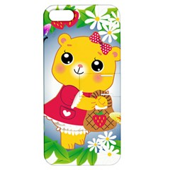 Bear Strawberries Apple Iphone 5 Hardshell Case With Stand by Nexatart