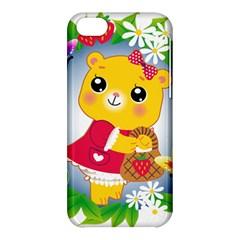 Bear Strawberries Apple Iphone 5c Hardshell Case by Nexatart