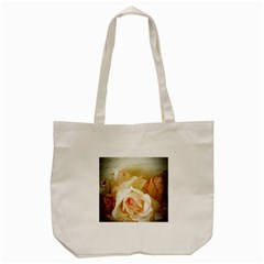 Roses Vintage Playful Romantic Tote Bag (cream) by Nexatart