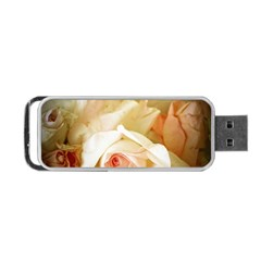 Roses Vintage Playful Romantic Portable Usb Flash (two Sides) by Nexatart