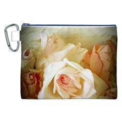 Roses Vintage Playful Romantic Canvas Cosmetic Bag (xxl) by Nexatart