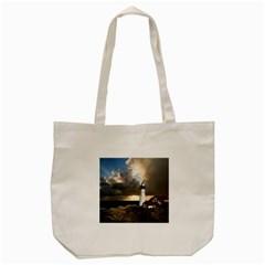 Lighthouse Beacon Light House Tote Bag (cream) by Nexatart