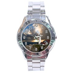 Lighthouse Beacon Light House Stainless Steel Analogue Watch by Nexatart