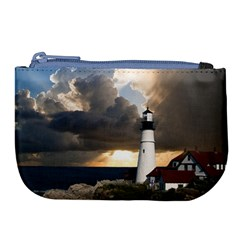 Lighthouse Beacon Light House Large Coin Purse by Nexatart
