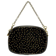 Grunge Pattern Black Triangles Chain Purses (one Side)  by Nexatart
