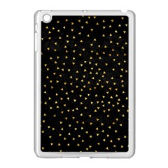 Grunge Pattern Black Triangles Apple Ipad Mini Case (white)
