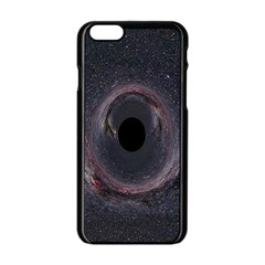 Black Hole Blue Space Galaxy Star Apple Iphone 6/6s Black Enamel Case by Mariart