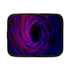 Black Hole Rainbow Blue Purple Netbook Case (small)  by Mariart