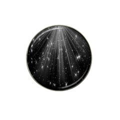 Black Rays Light Stars Space Hat Clip Ball Marker by Mariart