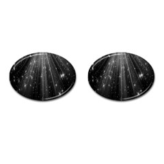 Black Rays Light Stars Space Cufflinks (oval) by Mariart