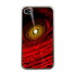 Black Red Space Hole Apple Iphone 4 Case (clear) by Mariart