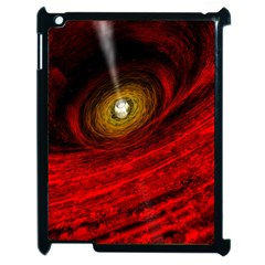 Black Red Space Hole Apple Ipad 2 Case (black) by Mariart