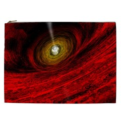 Black Red Space Hole Cosmetic Bag (xxl)  by Mariart