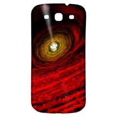 Black Red Space Hole Samsung Galaxy S3 S Iii Classic Hardshell Back Case by Mariart