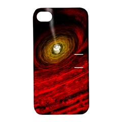 Black Red Space Hole Apple Iphone 4/4s Hardshell Case With Stand by Mariart