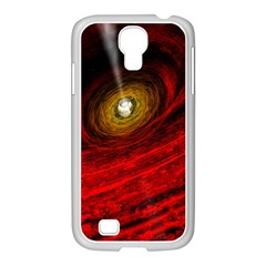 Black Red Space Hole Samsung Galaxy S4 I9500/ I9505 Case (white) by Mariart