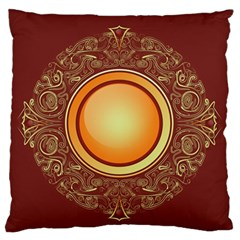 Badge Gilding Sun Red Oriental Standard Flano Cushion Case (two Sides) by Nexatart