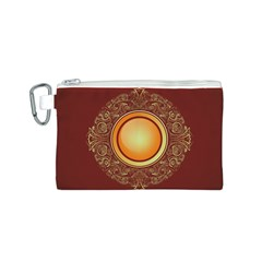 Badge Gilding Sun Red Oriental Canvas Cosmetic Bag (s) by Nexatart