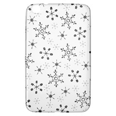 Black Holiday Snowflakes Samsung Galaxy Tab 3 (8 ) T3100 Hardshell Case  by Mariart