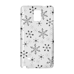 Black Holiday Snowflakes Samsung Galaxy Note 4 Hardshell Case by Mariart