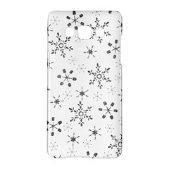 Black Holiday Snowflakes Samsung Galaxy A5 Hardshell Case  by Mariart