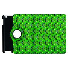 Abstract Art Circles Swirls Stars Apple Ipad 3/4 Flip 360 Case by Nexatart