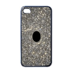 Black Hole Blue Space Galaxy Star Light Apple Iphone 4 Case (black) by Mariart