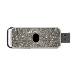 Black Hole Blue Space Galaxy Star Light Portable Usb Flash (two Sides) by Mariart