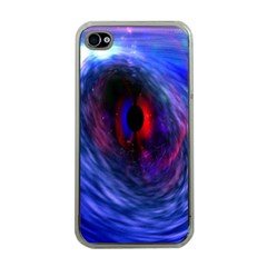 Blue Red Eye Space Hole Galaxy Apple Iphone 4 Case (clear) by Mariart