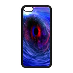 Blue Red Eye Space Hole Galaxy Apple Iphone 5c Seamless Case (black) by Mariart